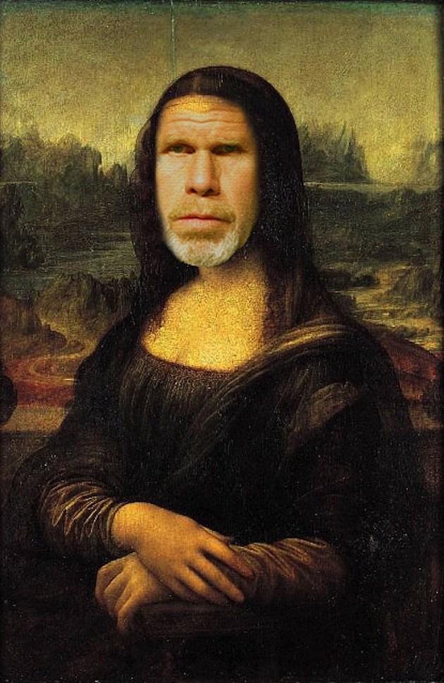 Rob Perlman as the Mona Lisa