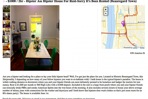 Hipster House ad
