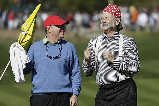 Bill Murray Golfing
