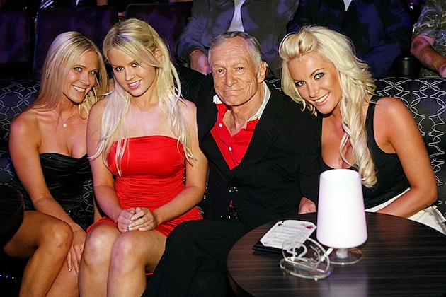 Hugh Hefner Visits Holly Madison At PEEPSHOW
