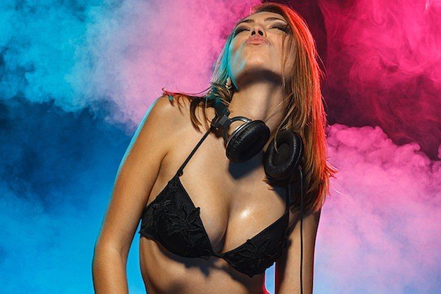 Hot Girl With Headphones