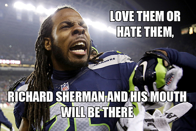 Richard Sherman yelling