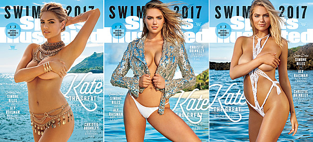 Kate Upton 2017 Swimsuit Issue triple cover